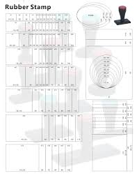 Stamp Price Chart Rubber Stamps Size Chart Isstamp