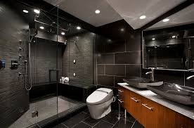 shower tiles bring cool textural contrast to the gorgeous bathroom design emc2 interiors