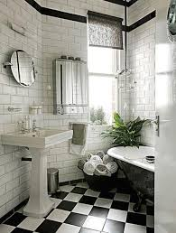black and white checked floor