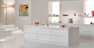 white quartz worktop part of the classico collection from caesarstone