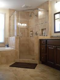 corner shower designs - Google Search Like the inserted shelves.amc