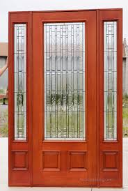 35 pfc 252 8 0 entry door with sidelights pre finished in burnt