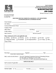 Subcontractor Agreement Format 11 Printable Construction Subcontractor Agreement Forms And