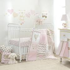 pink and white crib bedding french toile baby grey gold