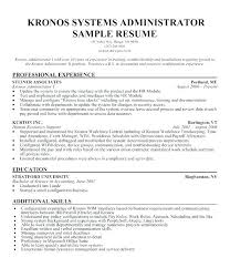 Sample Admin Resume Sysadmin Cover Letter System Administrator Resume Sample Job Resume