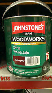 Details About Johnstones Trade Satin Finish Woodstain Woodworks Mahogany Pine Oak All Colours