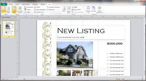 Microsoft Real Estate Flyer Templates Real Estate Flyer Template Selection