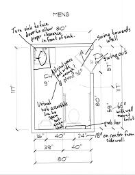 ADA Redesigning A Public Mens Bathroom Based On ADA Regulations - Ada accessible bathroom