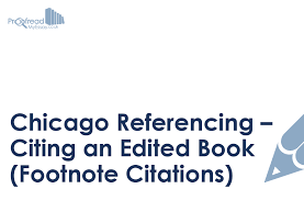 Bibliography Format For Books Chicago Referencing Citing An Edited Book Footnote Citations