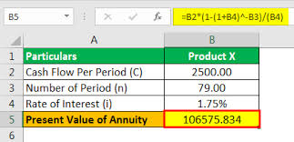 Present Value Of An Annuity Formula How To Calculate Pv Of