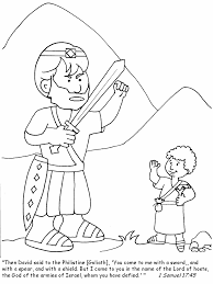 David And Goliath Coloring Pages Bible Samuel Coloringstar