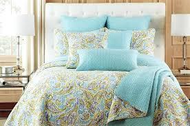 brown paisley bedding blue green paisley bedding king