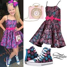 Jojo Swia Jojo Siwa Floral Dress Star Sneakers In