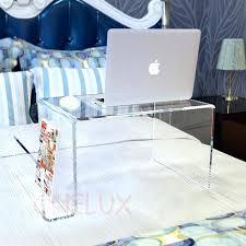 acrylic bedroom furniture. Acrylic Bed Clear Tray Table Laptop Stand With Additional Magazine Rack For Bedroom Furniture S