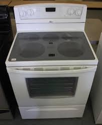 white whirlpool glass top stove