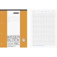 Brunnen Gravel Letter Writing Pad A4 5 Mm Graph Paper Pack Of 50 White