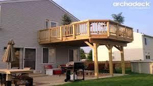 building a raised deck over concrete