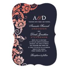 coral wedding invitations & announcements zazzle Wedding Invitation Kits Coral classy ombre coral and blue wedding invitations wedding invitation kits can insert picture
