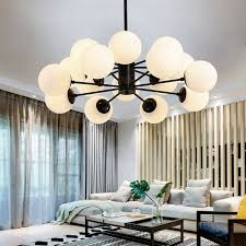 16 light nordic chandeliers with glass shade for living room dining room bedroom