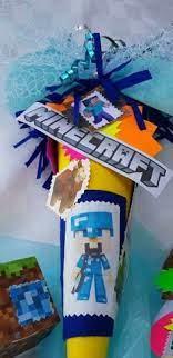 Wir zeigen in unserer anleitung, wie sie die schöne wundertüte. Minecraft Inspirierte Schultute Geschwistertute Diamond Stevemit Kleinen Geschenken Original Sticker Und Blocksaus Den Schultute Basteln Tute Kleine Geschenke
