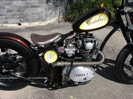 mr luckys custom xs650 using rigid frame and stock yamaha front