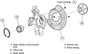 how to replace a rear wheel hub bearing on a ford explorer or F350 Rear Axle Diagram exploded view of ford explorer, mountaineer rear suspension hub bearing control arm 2004 f350 rear axle diagram