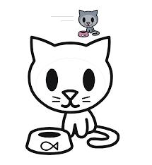 Small Picture Cat Coloring Pages For Kids Gallery Of Cat With Cat Coloring