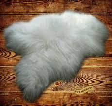 thick white mountain sheepskin faux fur rug