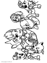 Paw Patrol Coloring Pages Printable Free Pictures 50