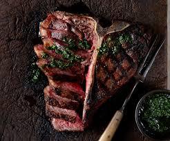 porterhouse steak. Beautiful Steak Grilled Porterhouse Steak With Chimichurri Sauce In H