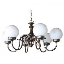 carnew 6 arm globe chandelier