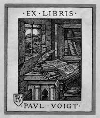 bookplate of paul voigt artist paul voigt