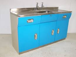vintage retro english rose metal kitchen sink unit cabinet