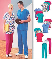 Scrub Patterns Beauteous PLUS SIZE SCRUBS Sewing Pattern Unisex Scrub Tops Pants Cardigan