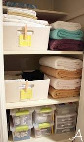 small linen closet ideas smart idea keep the big towels folded seperately and use baskets for s