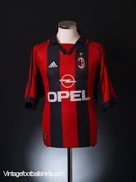 ac milan jersey. 1998-00 ac milan home shirt xl ac jersey