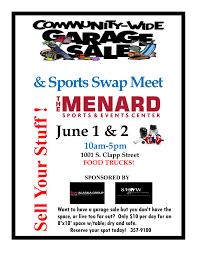 6 2 Community Garage Sale Flyer 2018 Sponsor Greater