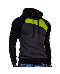 <b>IZZUMI</b> Paneled Raglan Sleeve Drawstring Hoodie - Black And ...