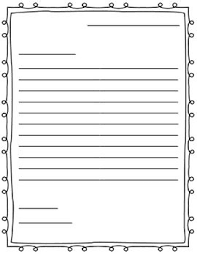 Free Templates For Kids Letter Writing Paper Friendly Letter School Stuff Writing