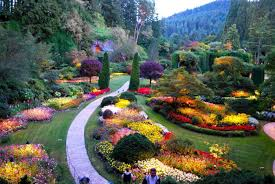 historic downtown butchart gardens in victoria bc canada