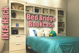 bed bridge bookcase from ikea brimnes billy