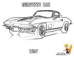 Stingray Corvette Coloring Pages