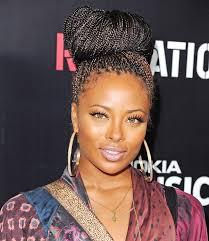 Black Braided Bun Hairstyles Braids African Fashion Ankara Kitenge African Women Dresses