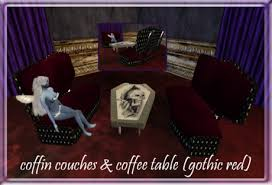 Second Life Marketplace  Dead And Gone Coffin Couch Gothic Coffin Couch