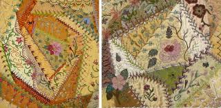 Crazy Gorgeous: 18 Crazy Patchwork Embroidery Designs & BeadCrazy crazy for beads Amy Munson Adamdwight.com