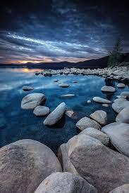 Floating Isles, Sunset - Lake Tahoe, NV USA, by Dustin Montgomery.....  #blue #tahoe #lake #waterscape #sunset #evening #beautiful #landscape |  Natur