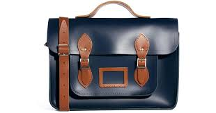 cambridge satchel company the 15 designer leather satchel in blue for men lyst