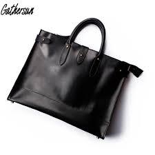 Original Design Bags Us 116 25 25 Off Original Design Handmade Leather Business Luxury Briefcase Mens High Quality Cowhide Handbag Retro Large Capacity Laptop Bag In