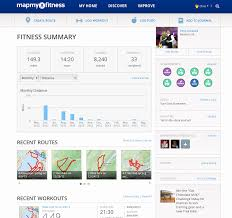 fitness data dashboard by mapmyfitness  data dashboards