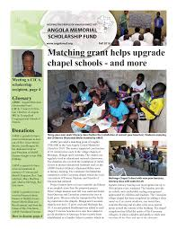 Matching grant helps upgrade chapel schools - and more